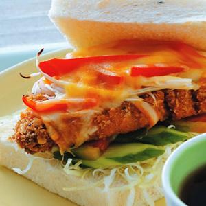 超厚豬排三明治