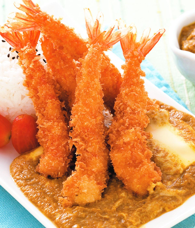 食譜:炸蝦咖哩飯