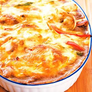焗海鮮咖哩飯(1)