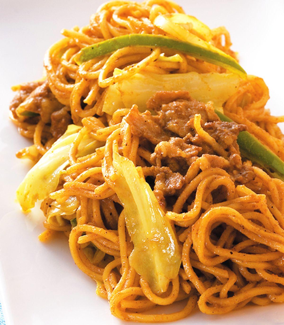 食譜:咖哩炒麵