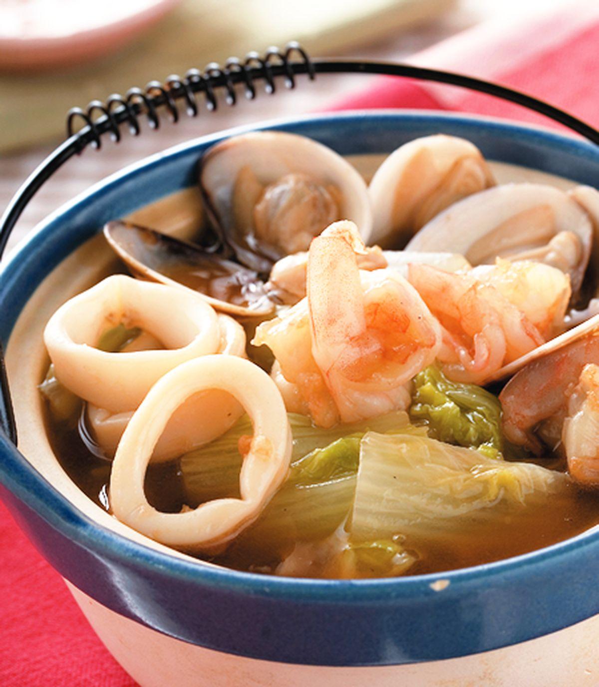 食譜:海鮮白菜煲