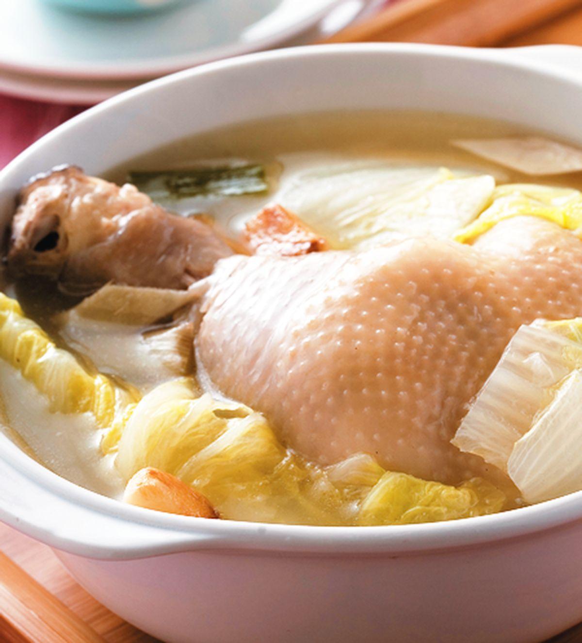 食譜:白菜燉雞