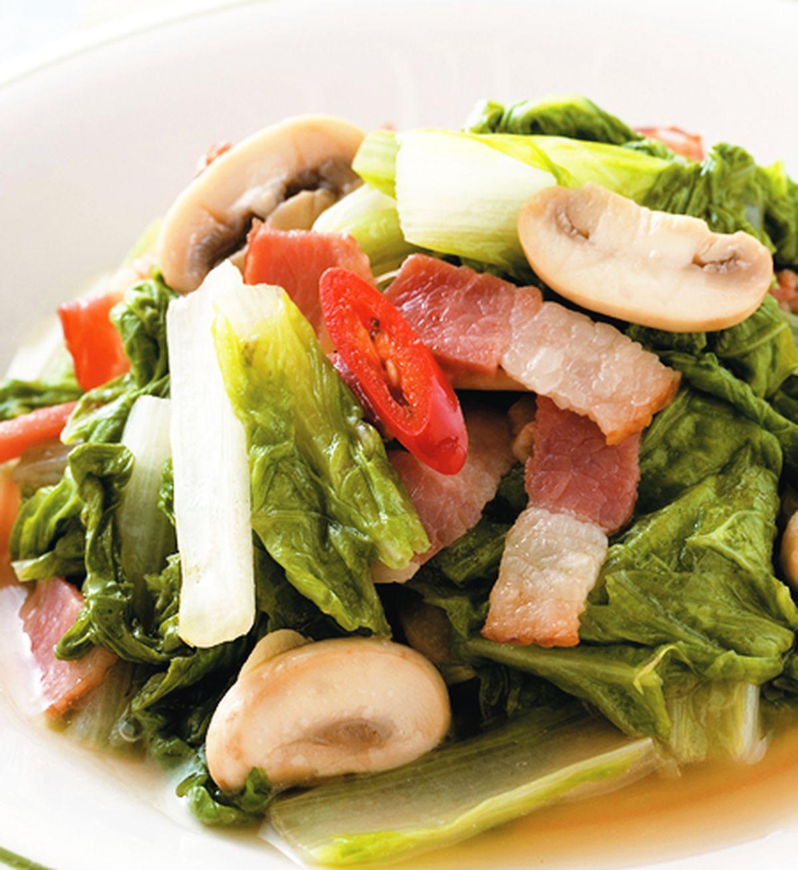食譜:培根小白菜