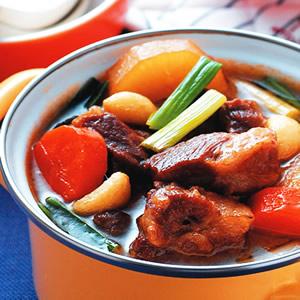 蘿蔔滷梅花肉