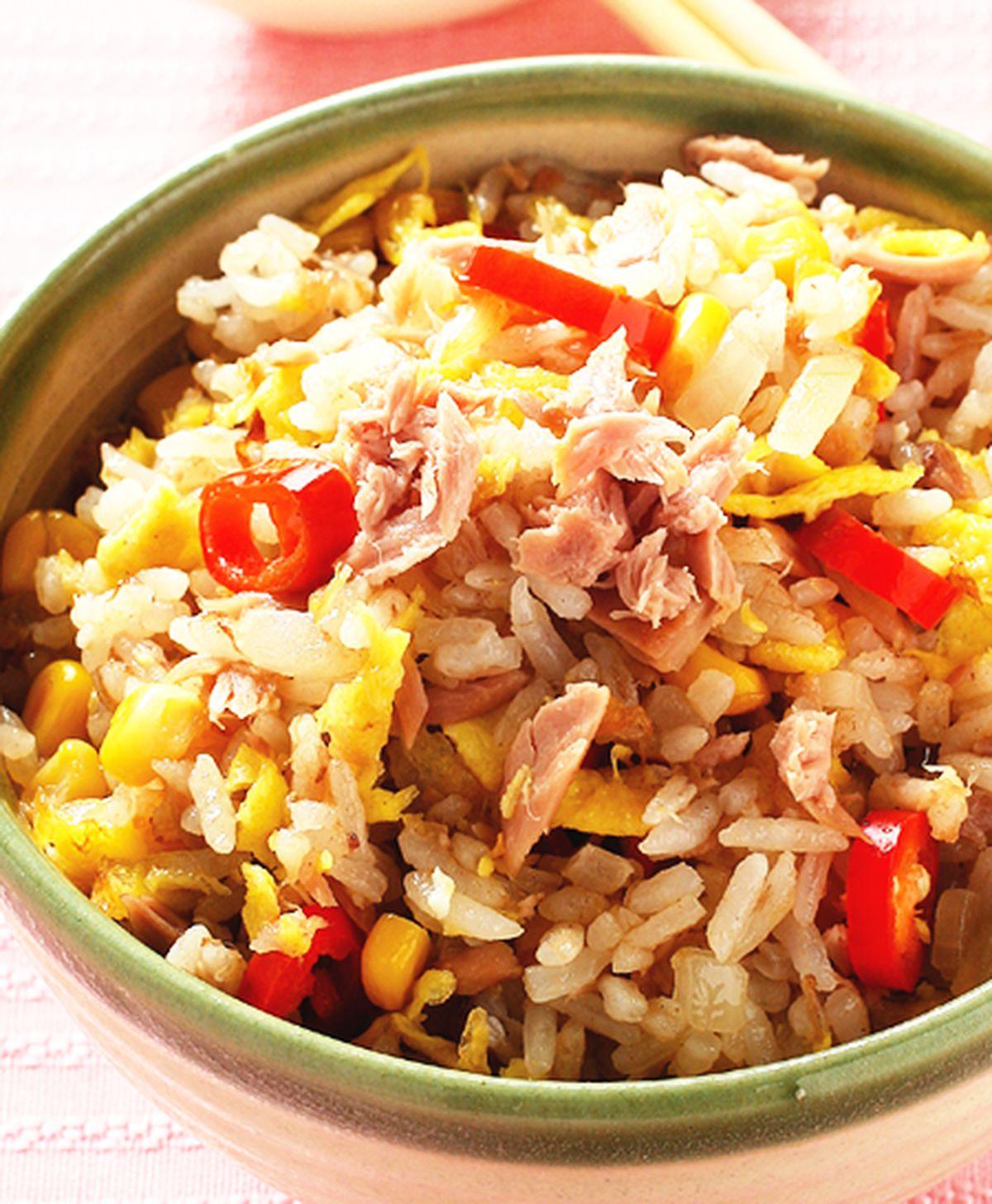 食譜:鮪魚玉米炒飯