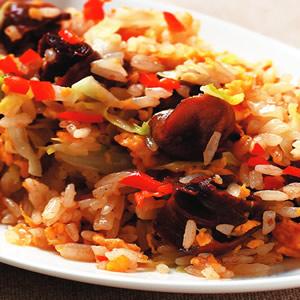 高麗菜蠑螺炒飯