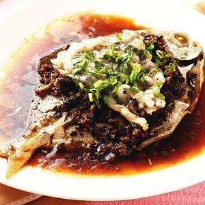 豆豉蒸鯧魚