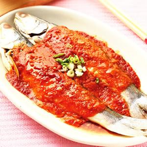 辣味噌蒸魚