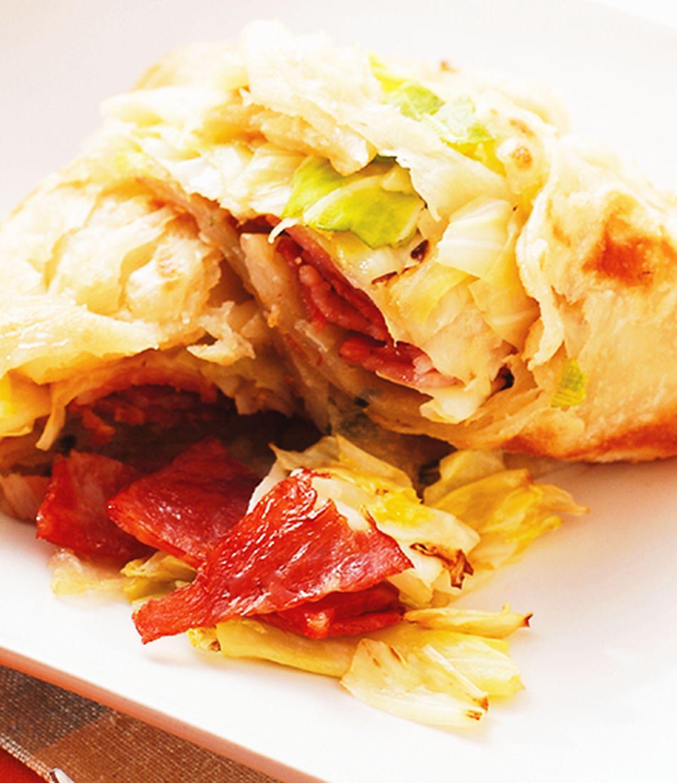 食譜:培根高麗蔥抓餅