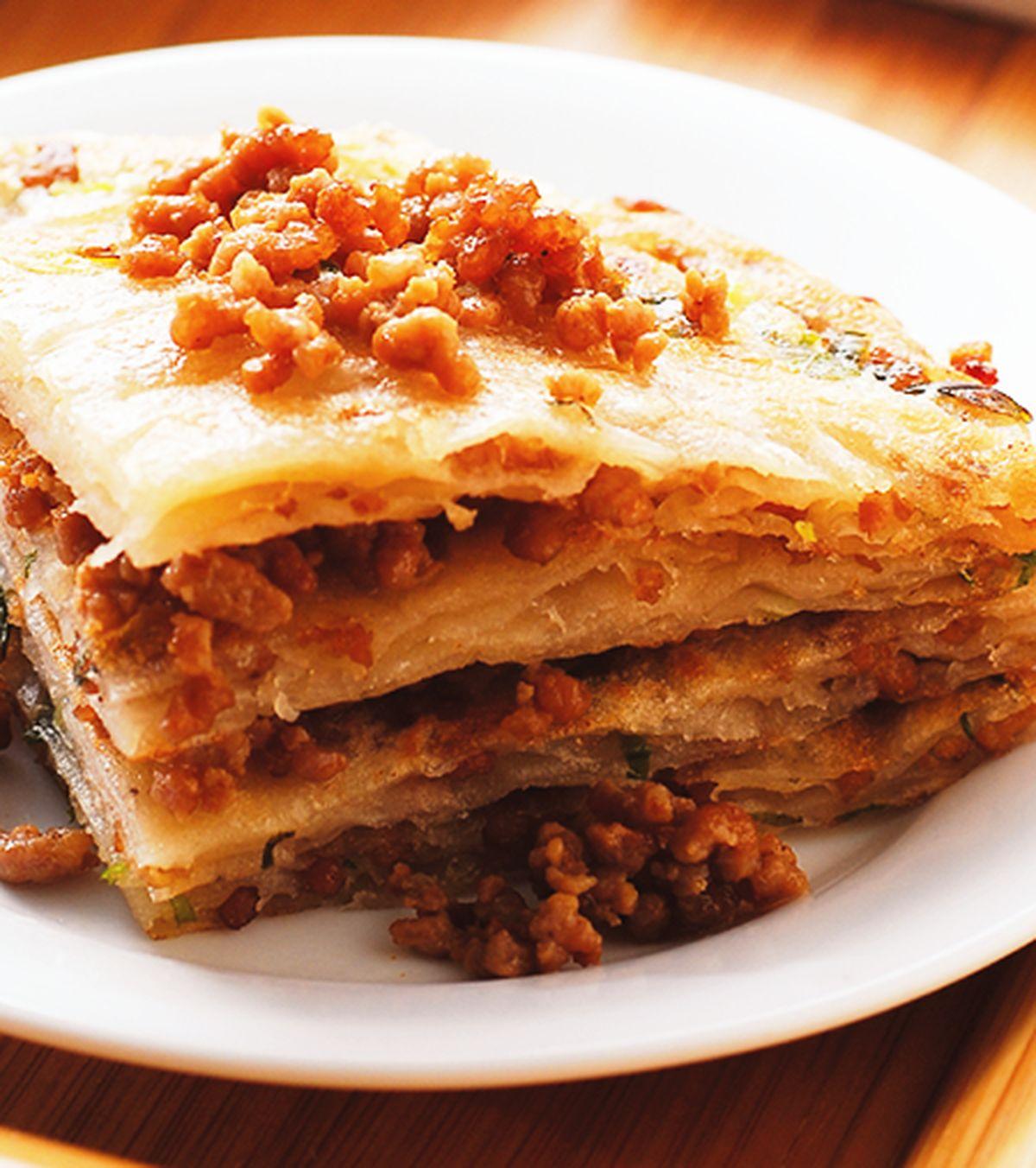 食譜:肉末蔥油餅