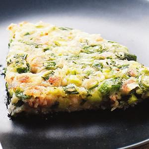 韭菜肉末蔥煎餅
