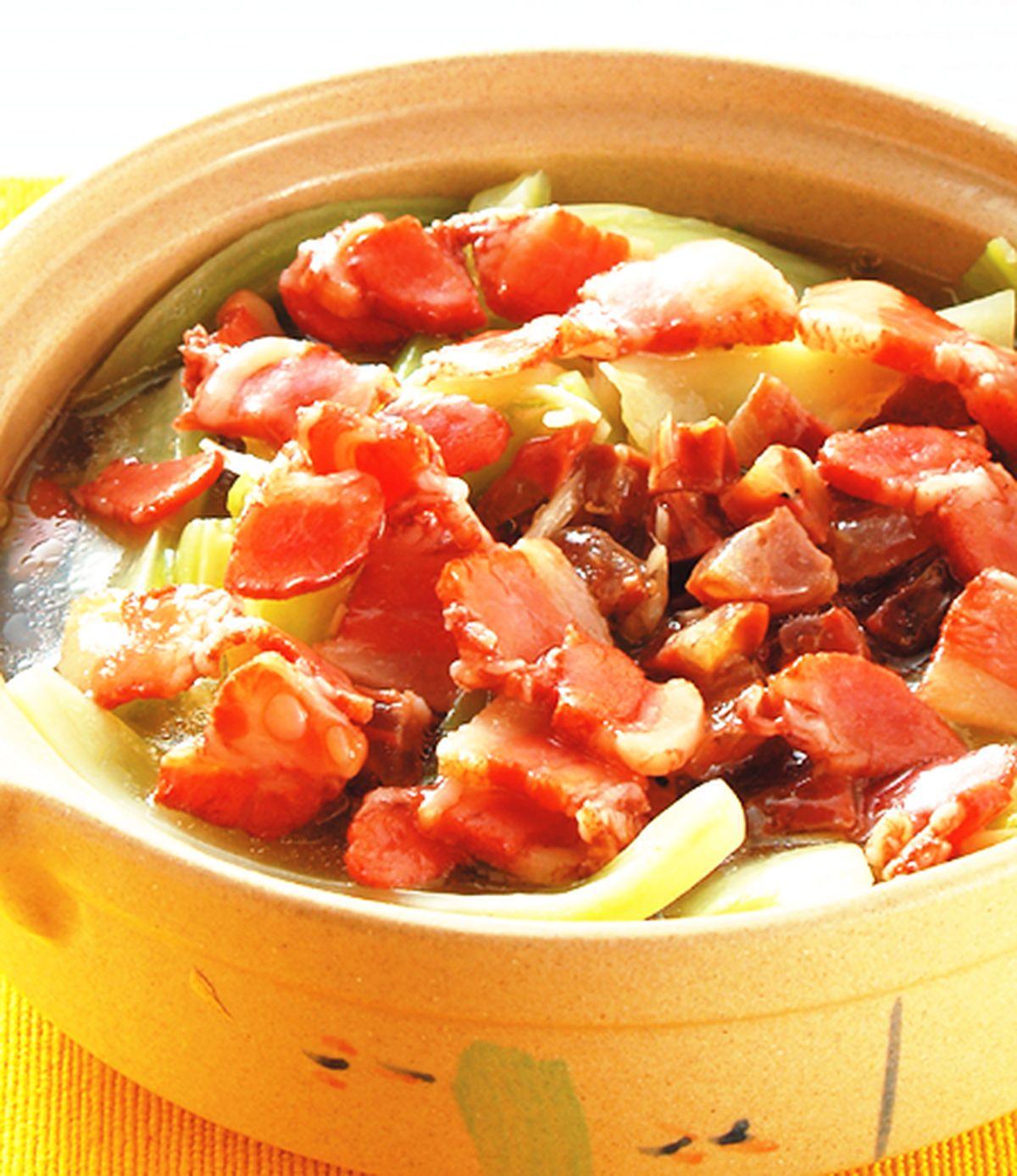 食譜:臘肉芥菜煲