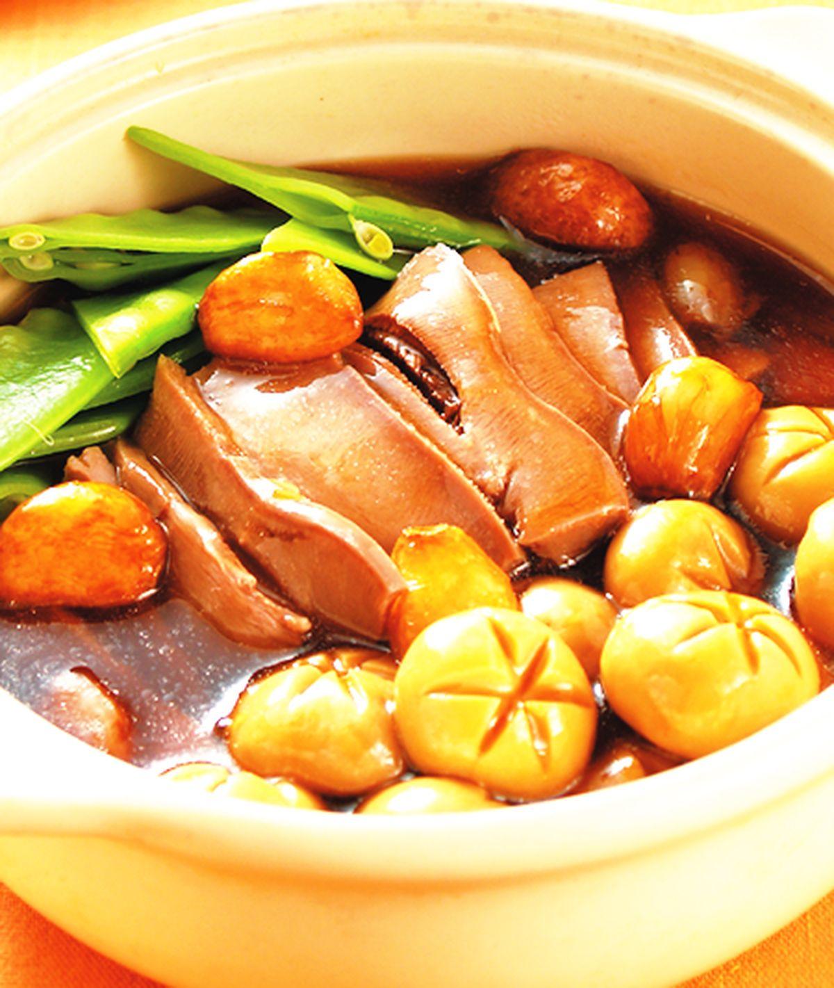 食譜:洋菇豬舌煲
