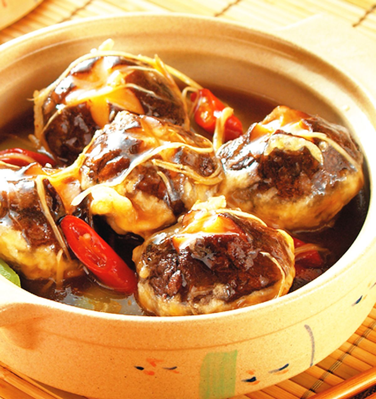 食譜:百花鑲菇煲