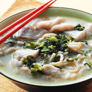 雪菜黃魚煨麵