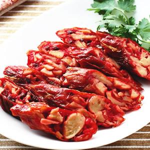 紅糟素香腸