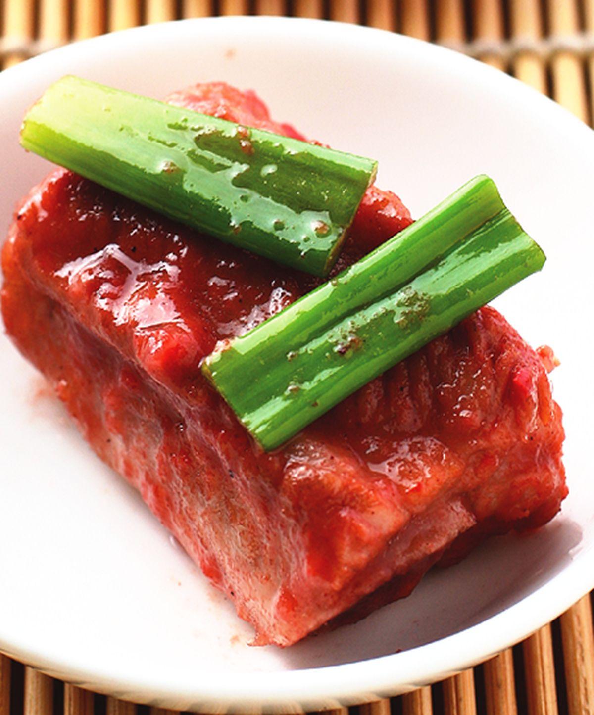 食譜:紅糟燒子排