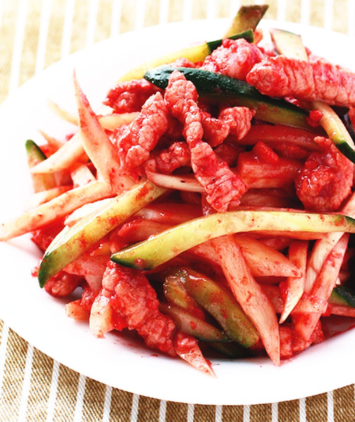 食譜:紅糟炒肉絲
