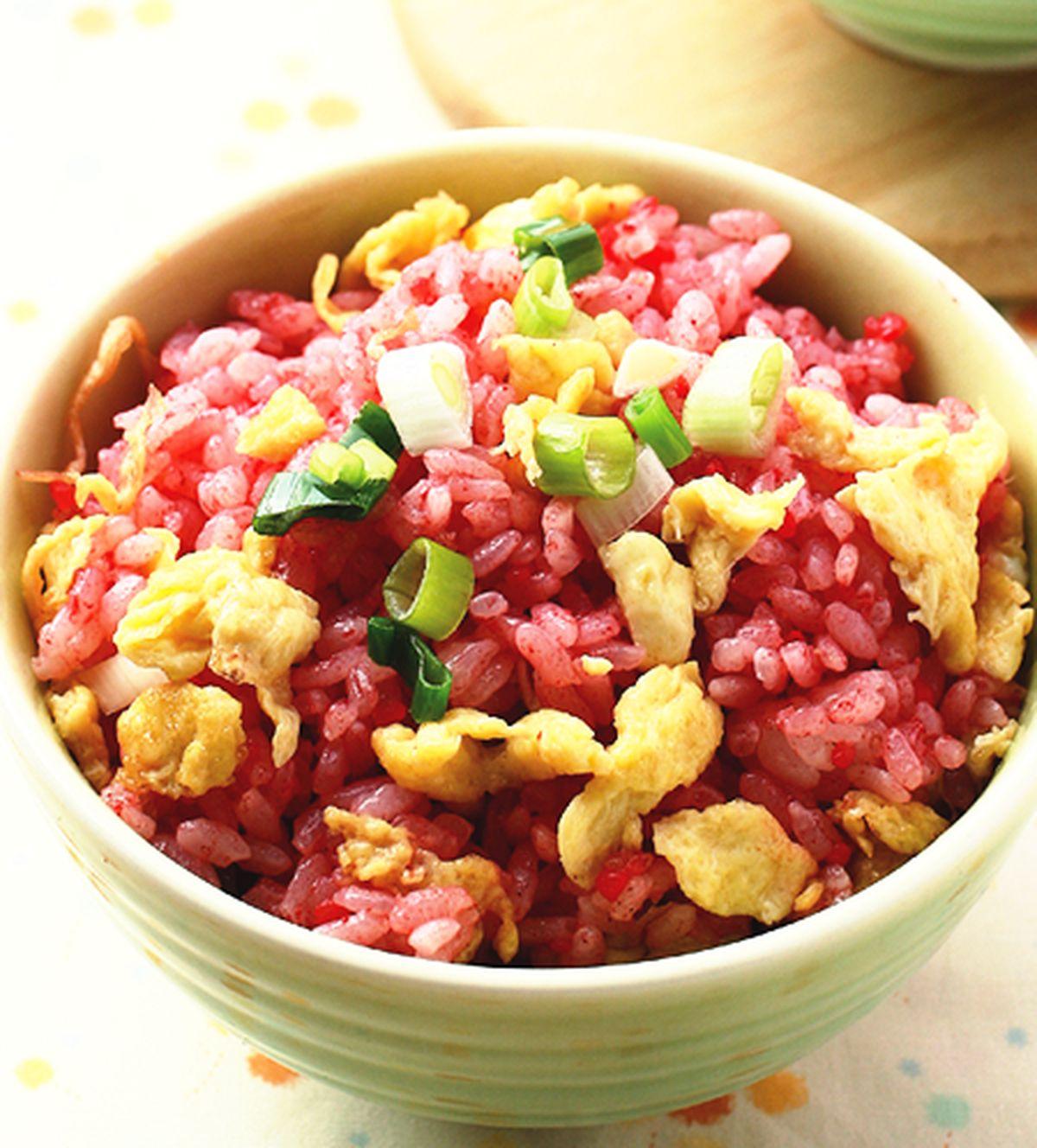 食譜:紅糟炒飯(1)