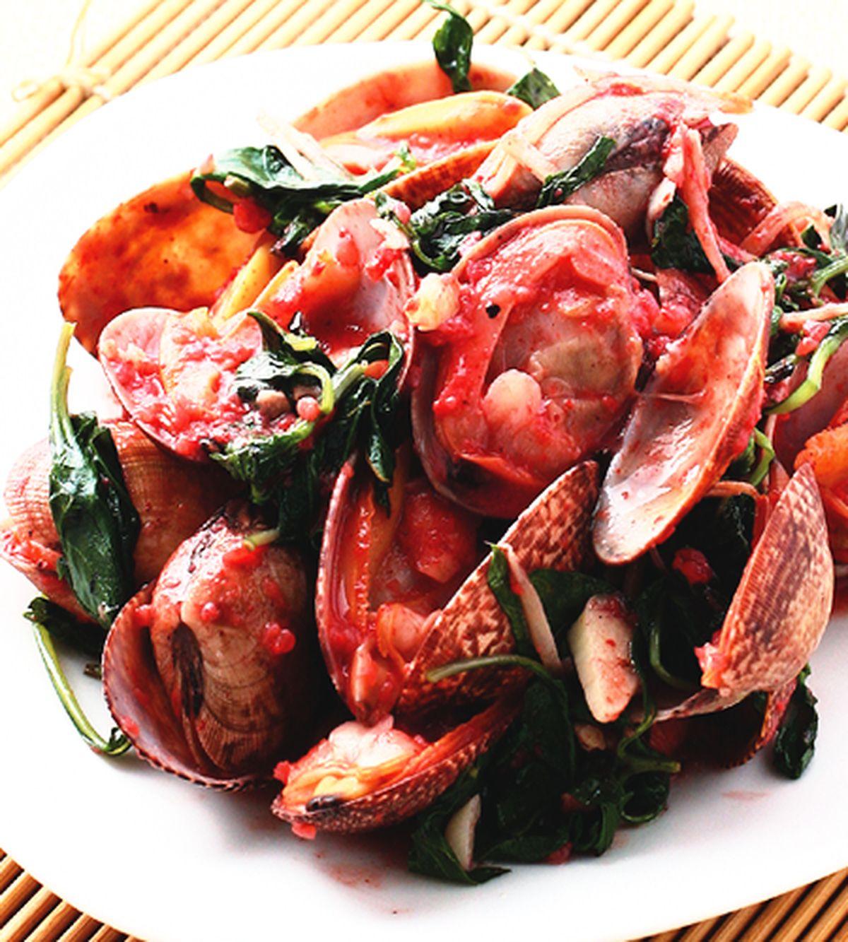 食譜:紅糟炒海瓜子