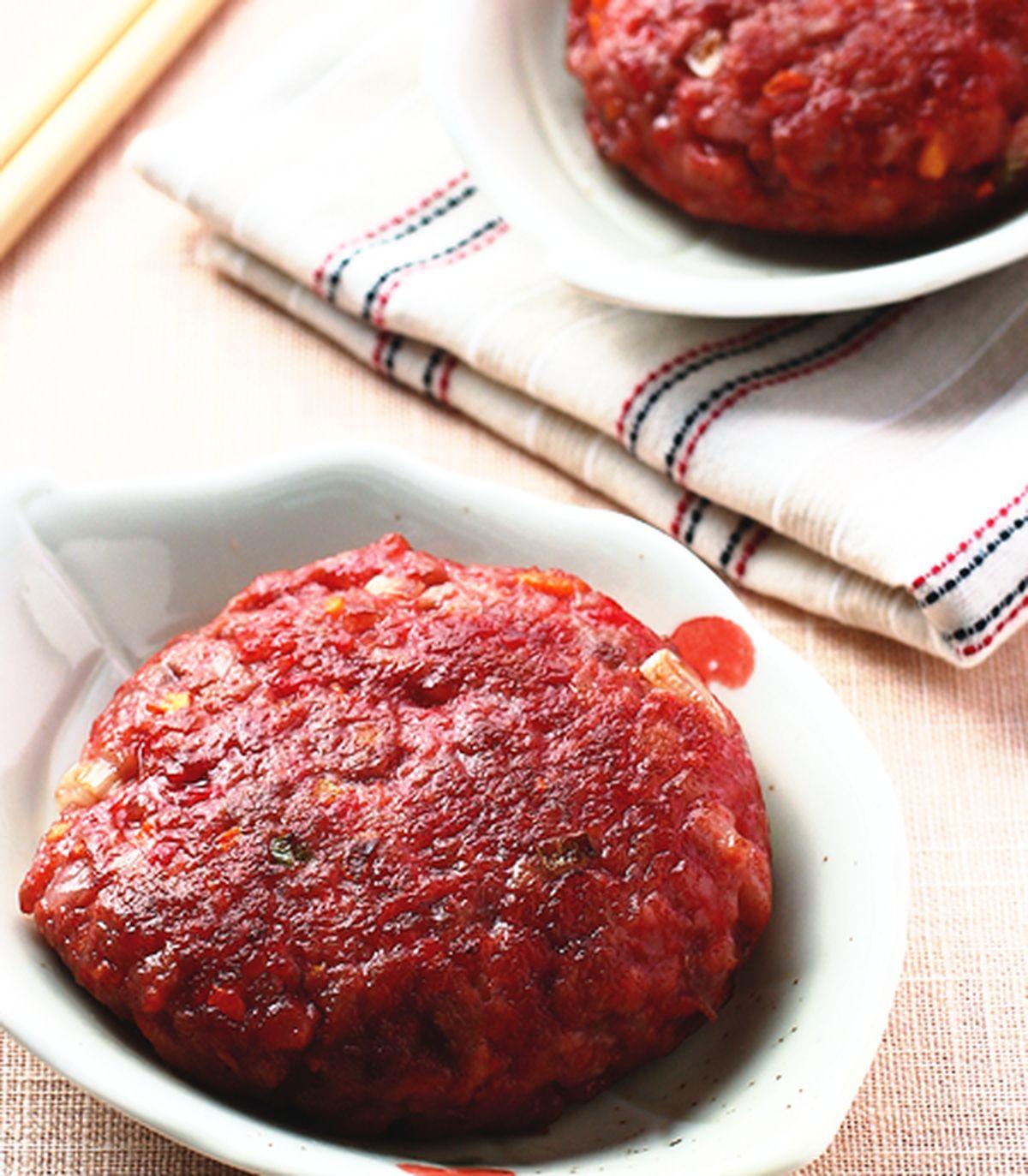 食譜:紅糟煎肉餅