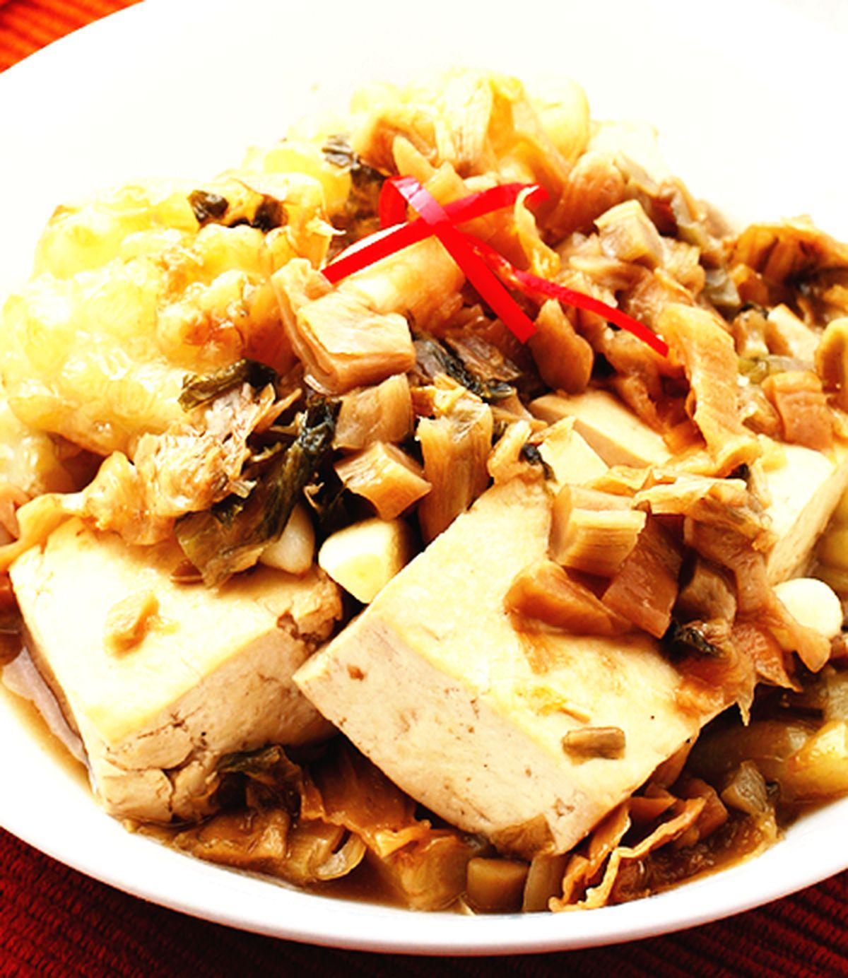 食譜:福菜苦瓜燜臭豆腐