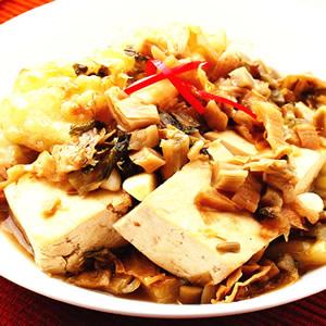 福菜苦瓜燜臭豆腐