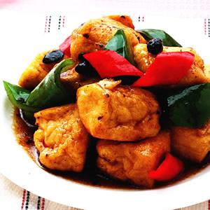 鼓椒炒臭豆腐