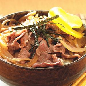 薑汁牛肉丼