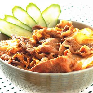 泡菜牛肉丼