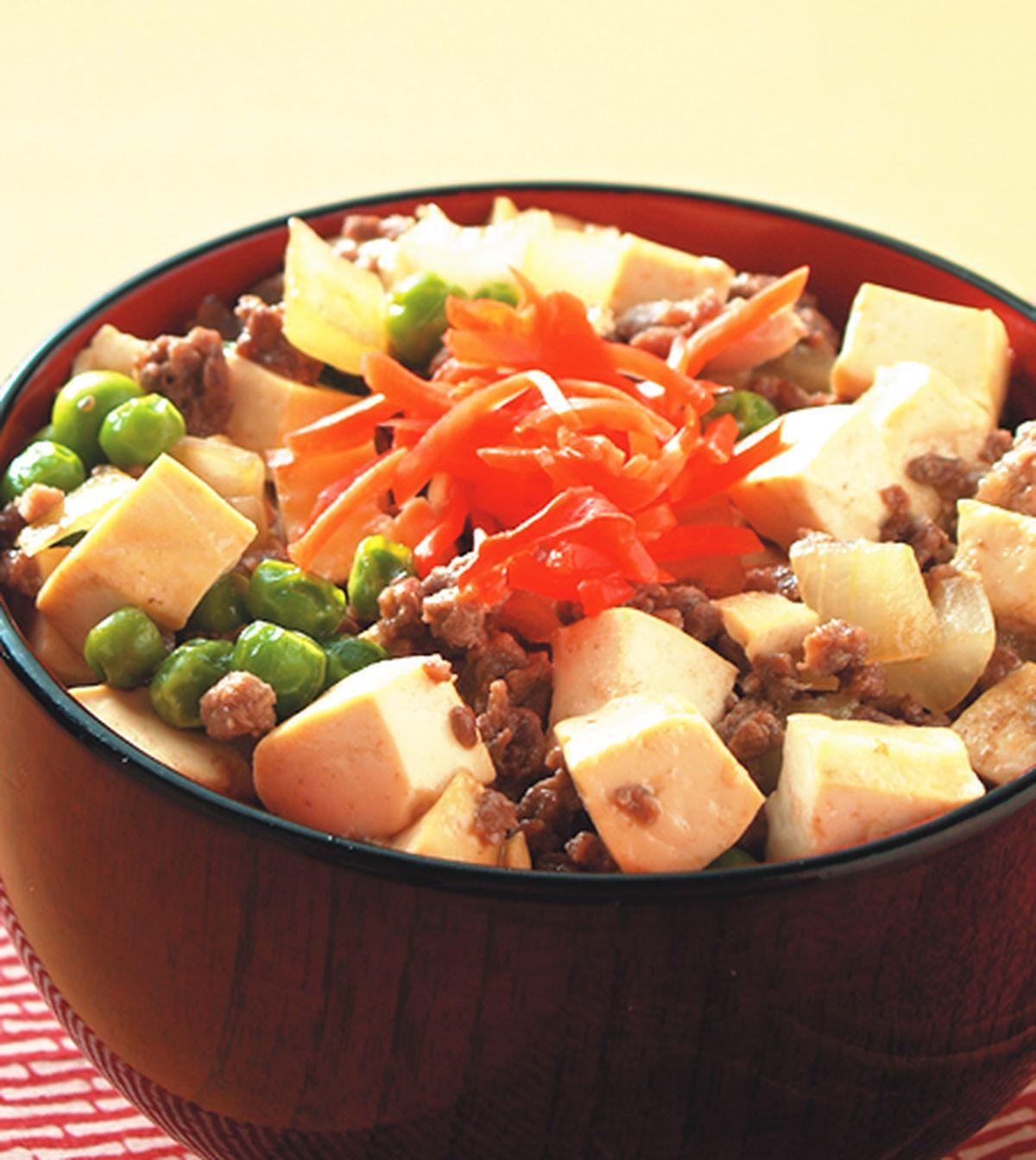 食譜:豆腐牛肉丼