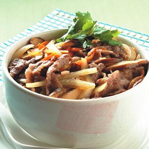 香菇牛肉丼