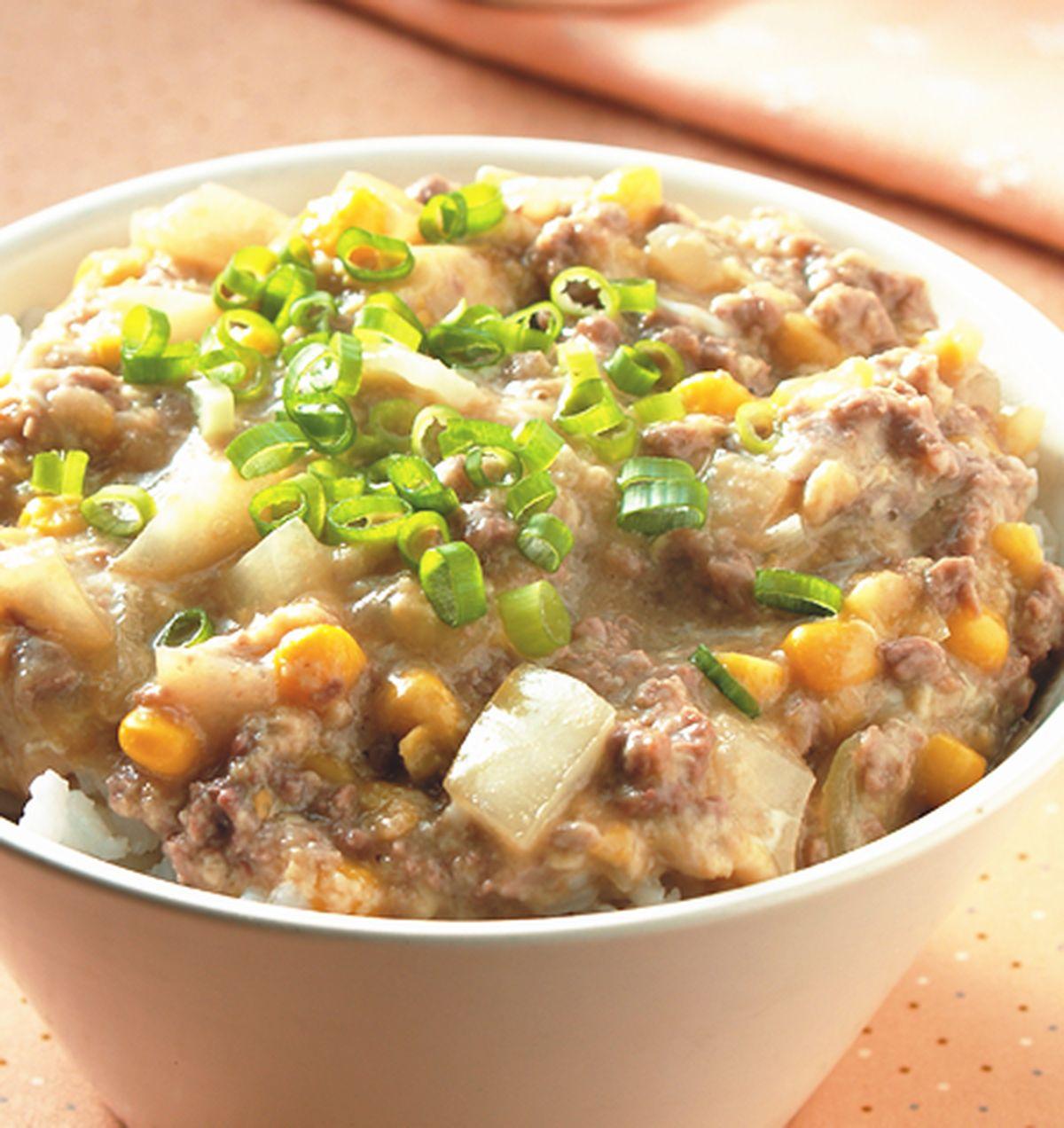 食譜:玉米牛肉丼