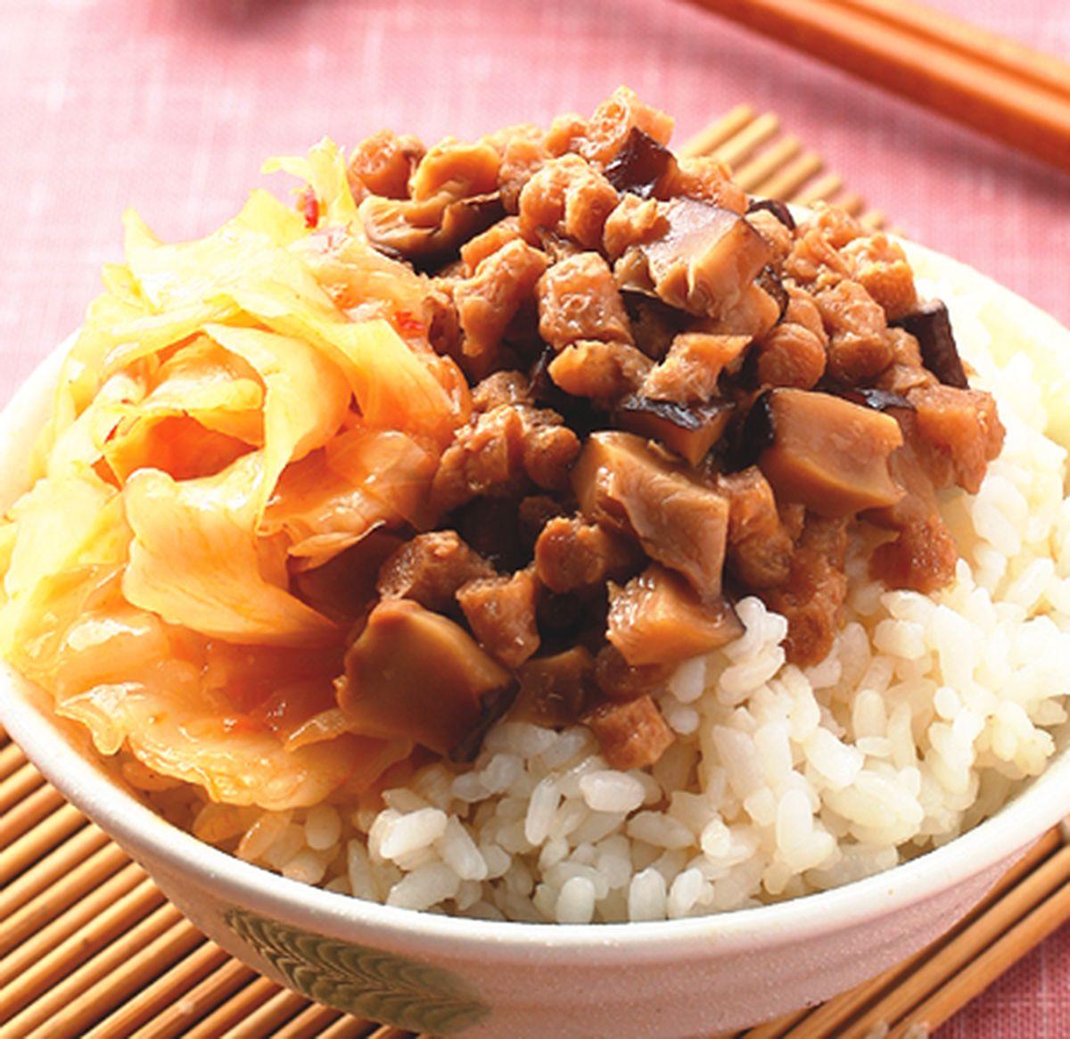 食譜:香菇素肉飯