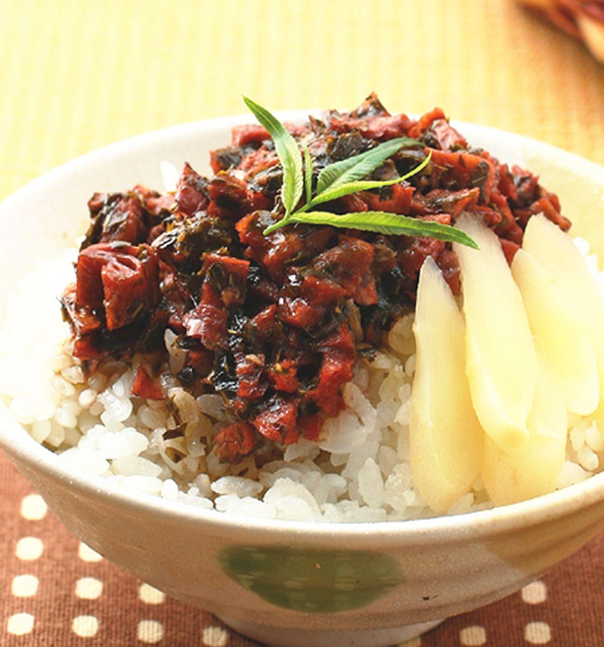 食譜:香椿素肉飯