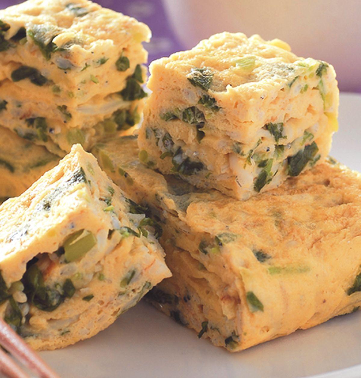 食譜:吻魚莧菜厚蛋燒