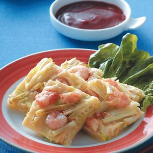鮮蝦韭黃煎餅
