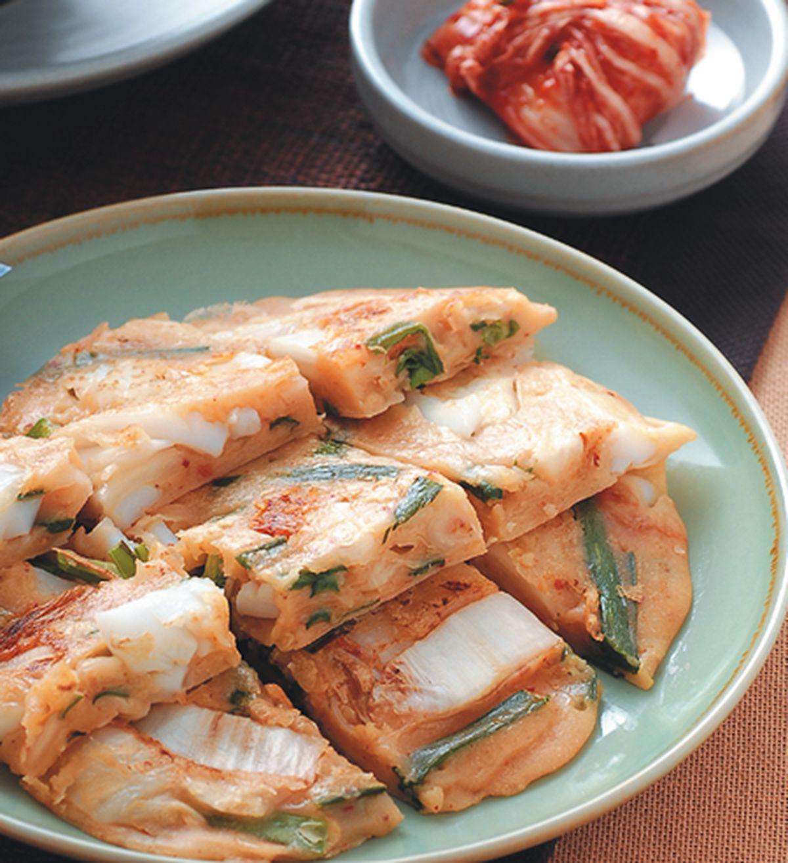 食譜:花枝泡菜煎餅