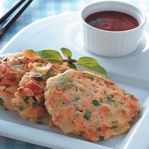 鮭魚蔥花煎餅