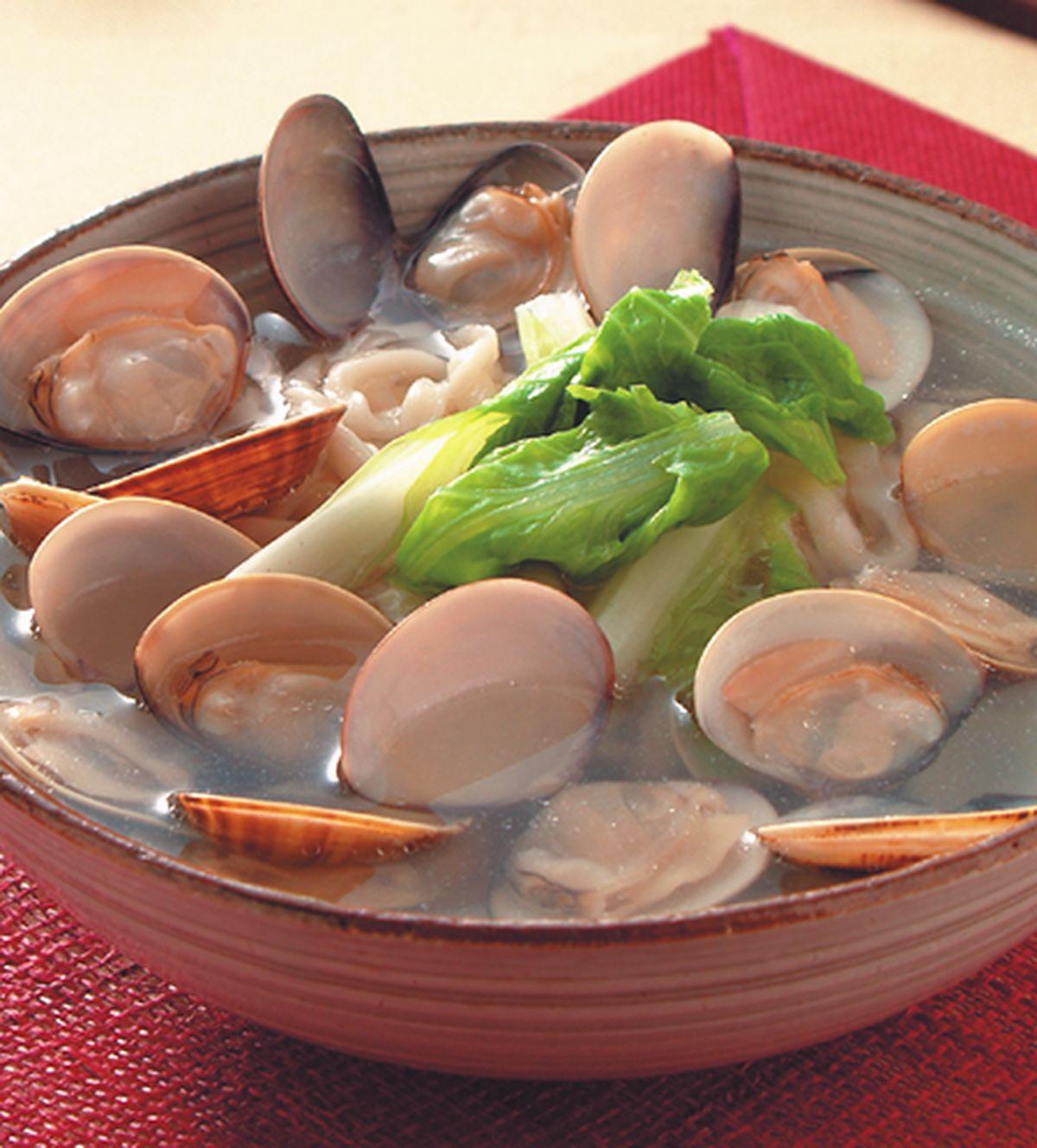 食譜:原味清湯蚌麵