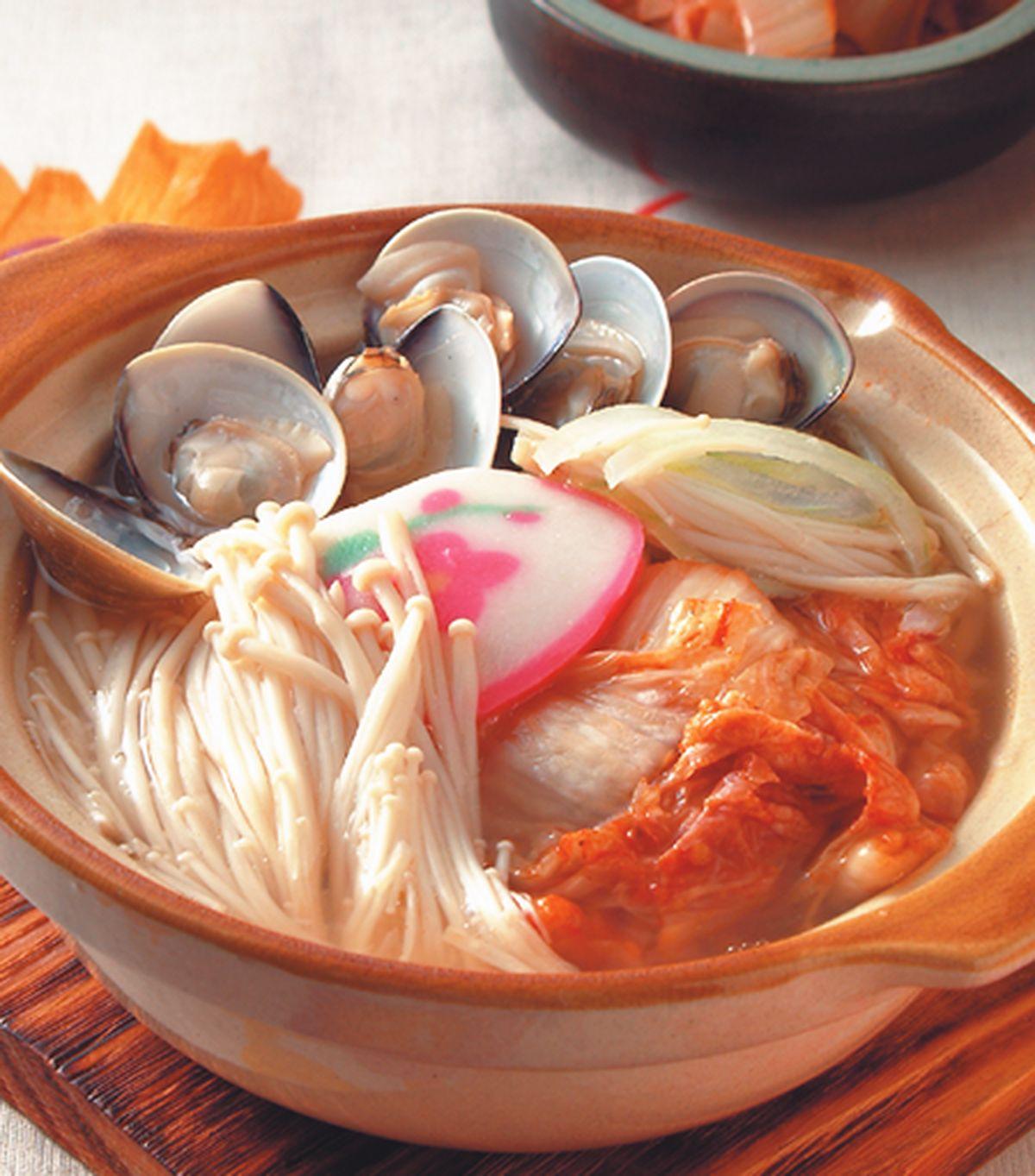 食譜:泡菜蚌麵