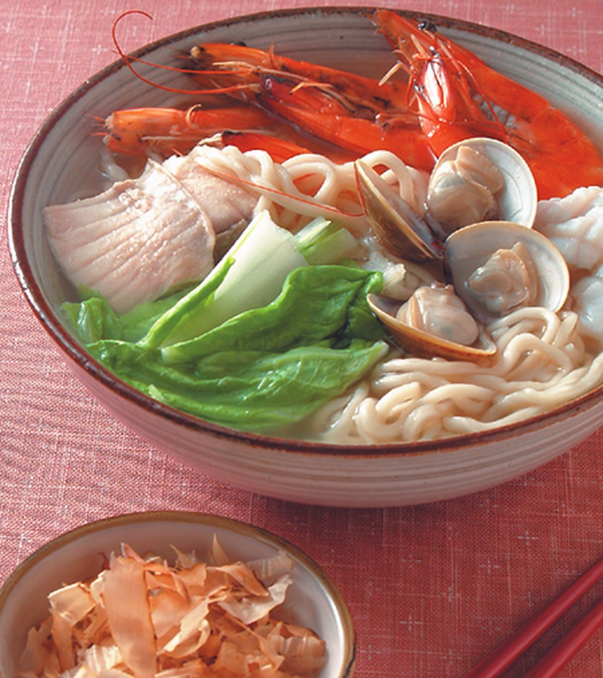 食譜:柴魚海鮮湯麵
