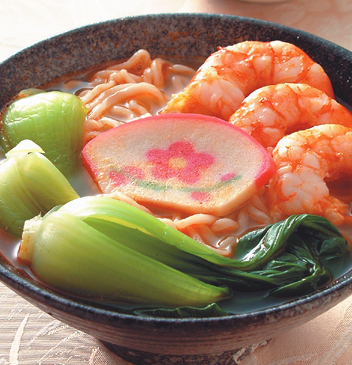 食譜:蝦湯麵