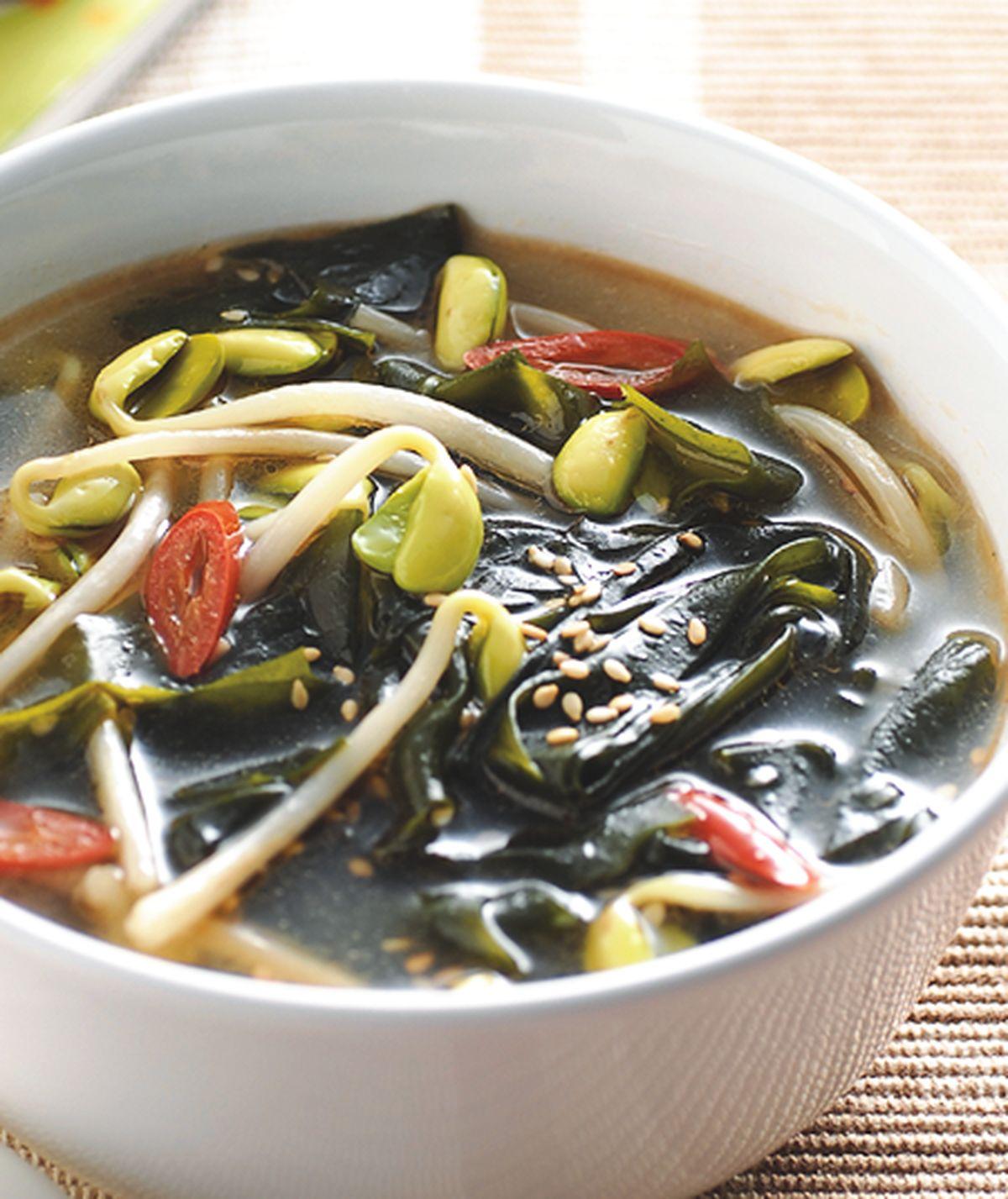食譜:海帶黃豆芽湯