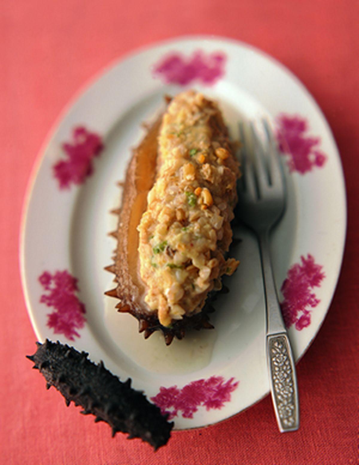 食譜:海參鑲五穀