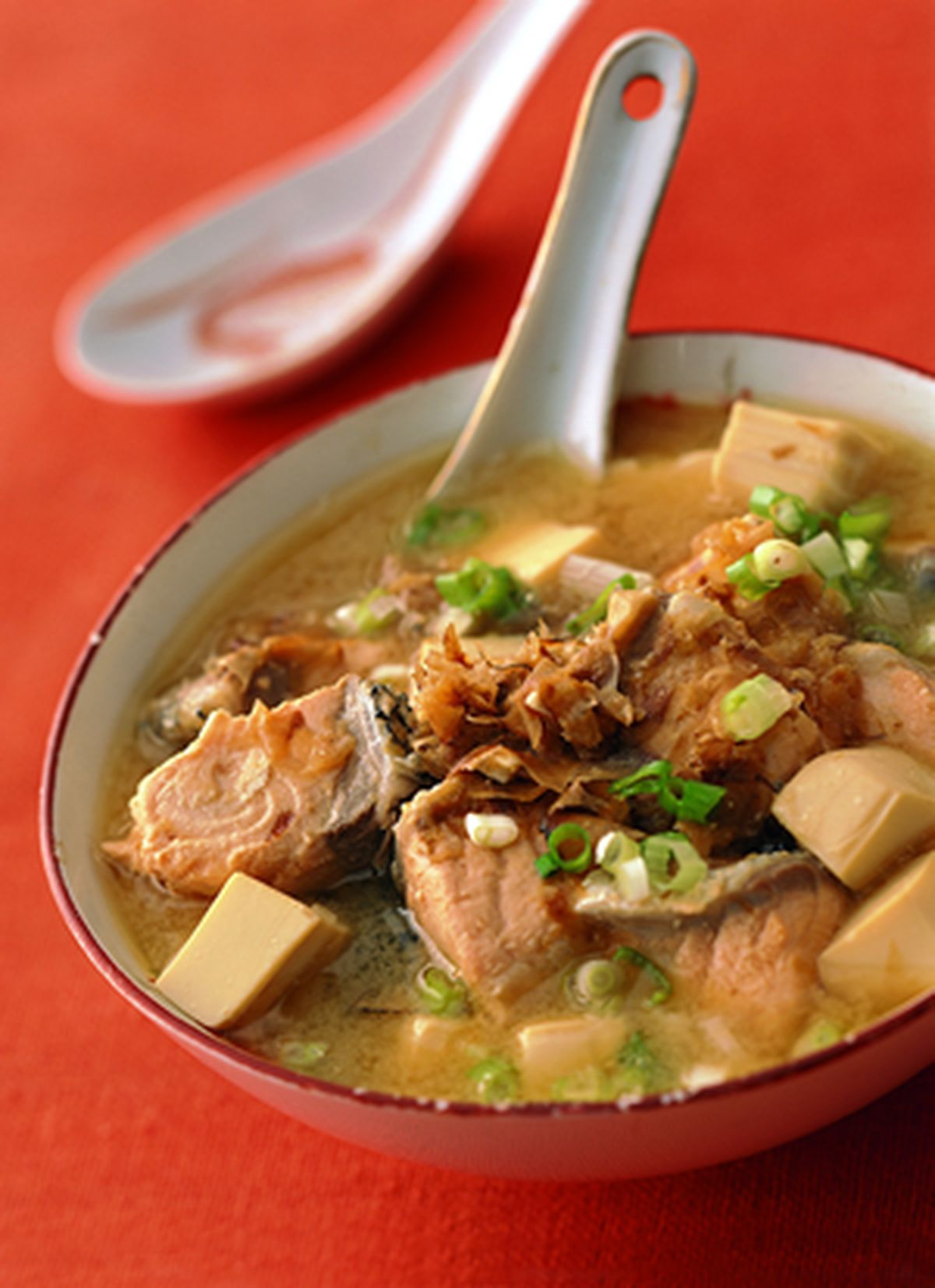 食譜:鮭魚味噌湯