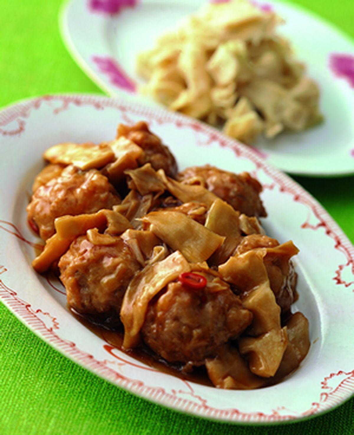食譜:蠔油脆筍肉丸