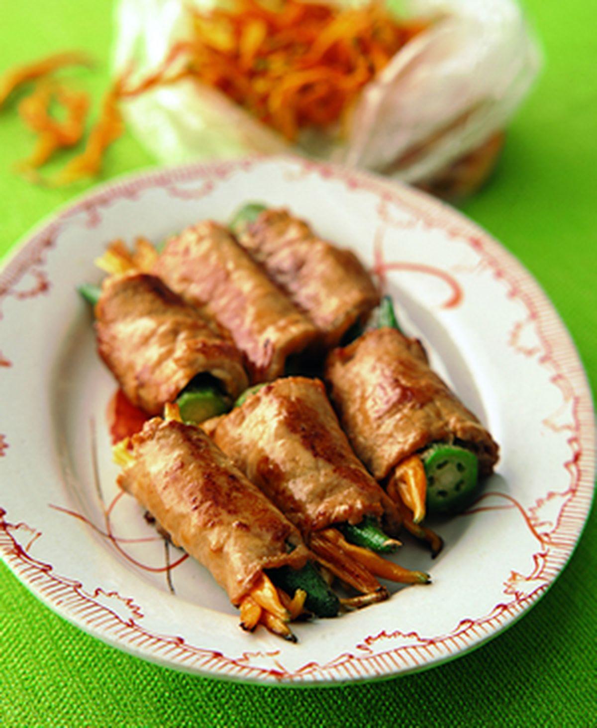食譜:金針肉卷