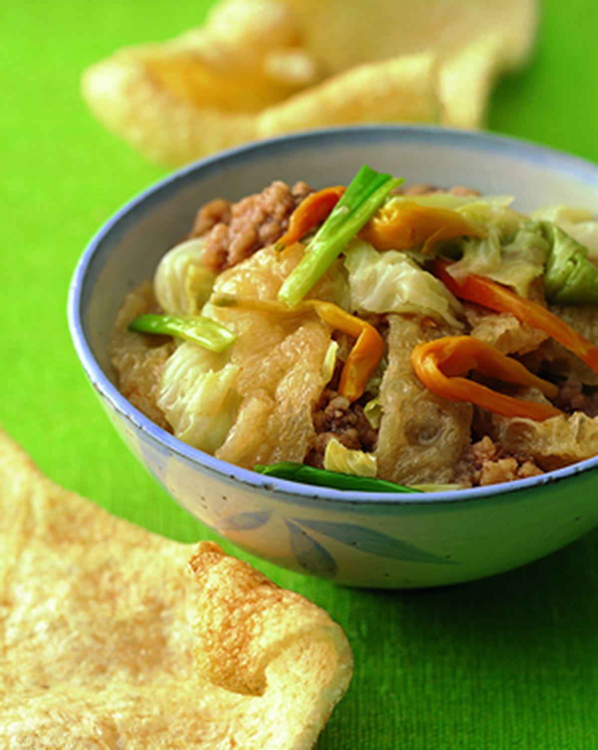 食譜:豬皮滷高麗菜