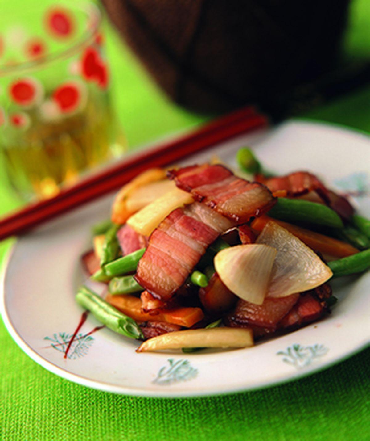 食譜:筍片炒臘肉